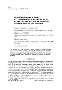 Solubilities of gases in liquids II. The solubilities of He ...
