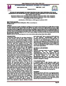 solubility improvement of poorly water soluble drug fenofibrate by solid ...