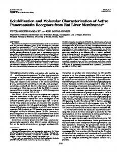 Solubilization and Molecular Characterization of Active Pancreastatin