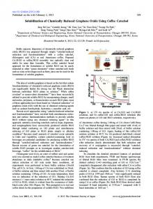 Solubilization of Chemically Reduced Graphene Oxide ... - CSJ Journals
