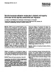 Soluble leucocyte adhesion molecules in diabetic ... - Springer Link