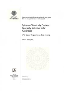 Solution-Chemically Derived Spectrally Selective