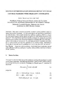 Solution differentiability for parametric nonlinear control problems with