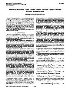 Solution of Fractional Order Optimal Control ... - Semantic Scholar