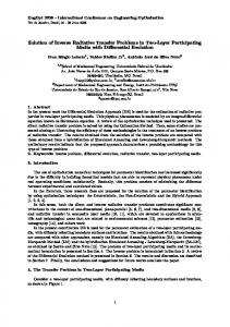Solution of Inverse Radiative Transfer Problems in Two ... - CiteSeerX