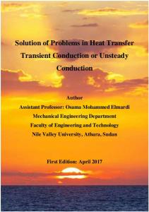 Solution of Problems in Heat Transfer Transient