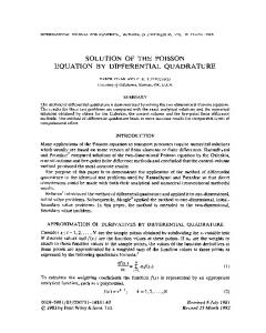 Solution of the Poisson equation by differential ... - Wiley Online Library