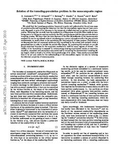 Solution of the tunneling-percolation problem in the nanocomposite ...