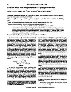 Solution-Phase Parallel Synthesis of N ... - IngentaConnect