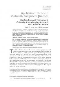 SolutionFocused Therapy as a Culturally ... - Wiley Online Library