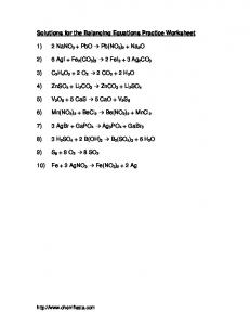 Review Worksheet On Balancing Redox Equations Moam Info
