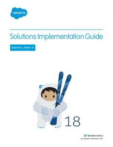 Solutions Implementation Guide - salesforce.com