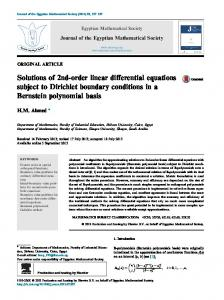 Solutions of 2nd-order linear differential equations