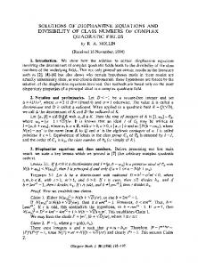 Solutions of Diophantine equations and divisibility of