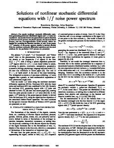 Solutions of nonlinear stochastic differential equations ... - IEEE Xplore
