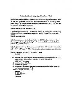 Solutions to assigned problems Ch5