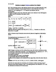 Solutions to assigned problems Ch6