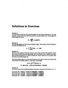 Solutions to Exercises