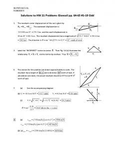 Solutions to HW 21 Problems Giancoli pp. 64-65 ... - WordPress.com