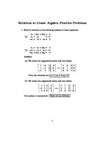Solutions to Linear Algebra Practice Problems