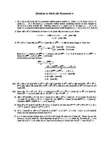 Solutions to Math 332 Homework 4