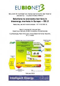 Solutions to overcome barriers in bioenergy markets ...