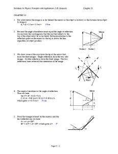 Solutions to Physics: Principles with Applications, 5/E, Giancoli ...