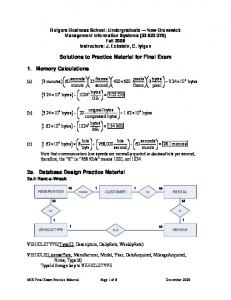 Solutions to practice material for final exam - Eckstein, Rutgers