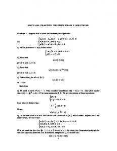 Solutions to Practice Midterm Exam 2 - Penn Math