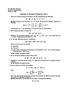Solutions to practice problems for exam #2