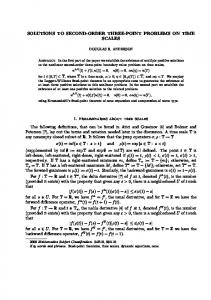 SOLUTIONS TO SECOND-ORDER THREE-POINT ... - CiteSeerX