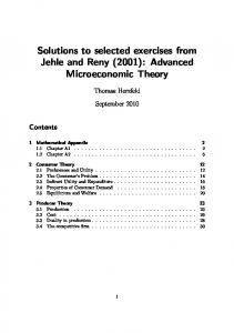 Solutions to selected exercises from Jehle and Reny (2001 ... - DeDS