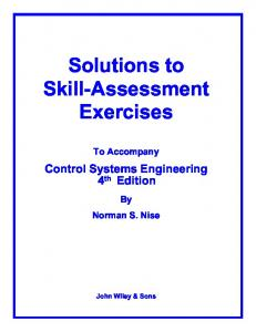 Solutions to Skill-Assessment Exercises