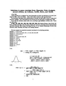 Solutions to some exercises from Bayesian Data Analysis, second ...
