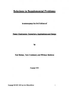 Solutions to Supplemental Problems
