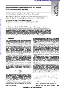 Solvation dynamics of 4-aminophthalimide in a polymer (PVP ...