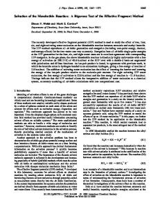 Solvation of the Menshutkin Reaction: A ... - American Chemical Society