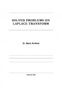 SOLVED PROBLEMS ON LAPLACE TRANSFORM
