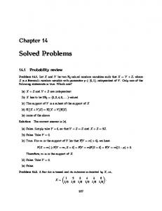 Solved Problems