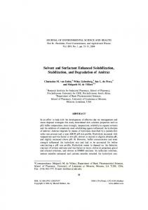 Solvent and Surfactant Enhanced Solubilization, Stabilization, and ...