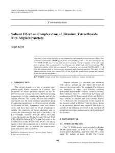 Solvent Effect on Complexation of Titanium