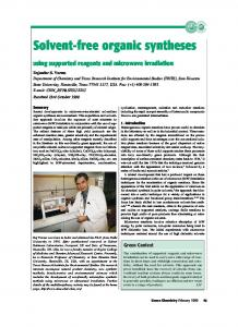 Solvent-free organic syntheses
