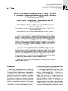 Solvent-free oxidation of secondary alcohols to carbonyl compounds ...