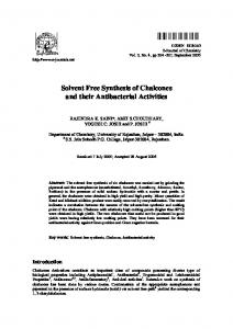 Solvent Free Synthesis of Chalcones and their
