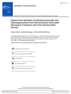 Solvent-Free Synthesis of Nitrilotriacetamide and Diketopiperazines