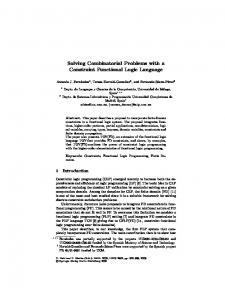 Solving Combinatorial Problems with a Constraint Functional Logic