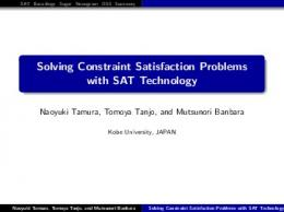 Solving Constraint Satisfaction Problems with SAT Technology