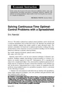 Solving Continuous-Time Optimal- Control Problems ...