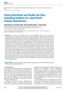 Solving Distributed and Flexible Job-Shop Scheduling ... - IEEE Xplore