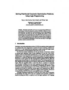 Solving Distributed Constraint Optimization Problems Using Logic ...